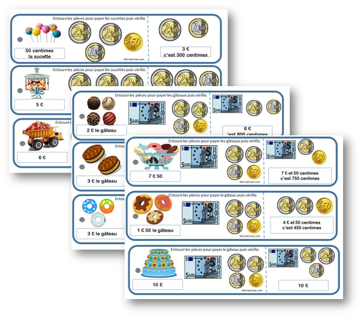 SEQUENCE MONNAIE : ateliers - exercices - mémos | Mathématiques pour enfants, Jeux ce1 et La ...