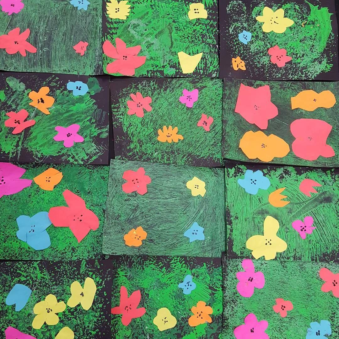 Andy Warhol Inspired Spring Flower Art By 1st Graders Spring Art