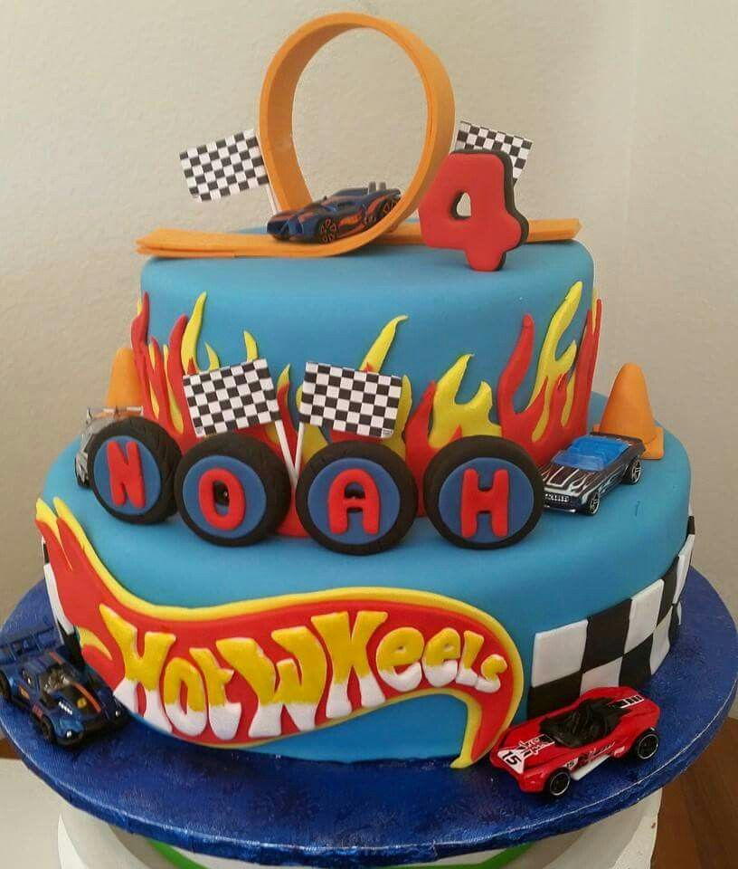 Pleasant Hotwheels Cake With Images Hot Wheels Birthday Cake Hot Funny Birthday Cards Online Chimdamsfinfo