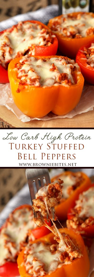 Ground Turkey Stuffed Bell Peppers #bellpeppers