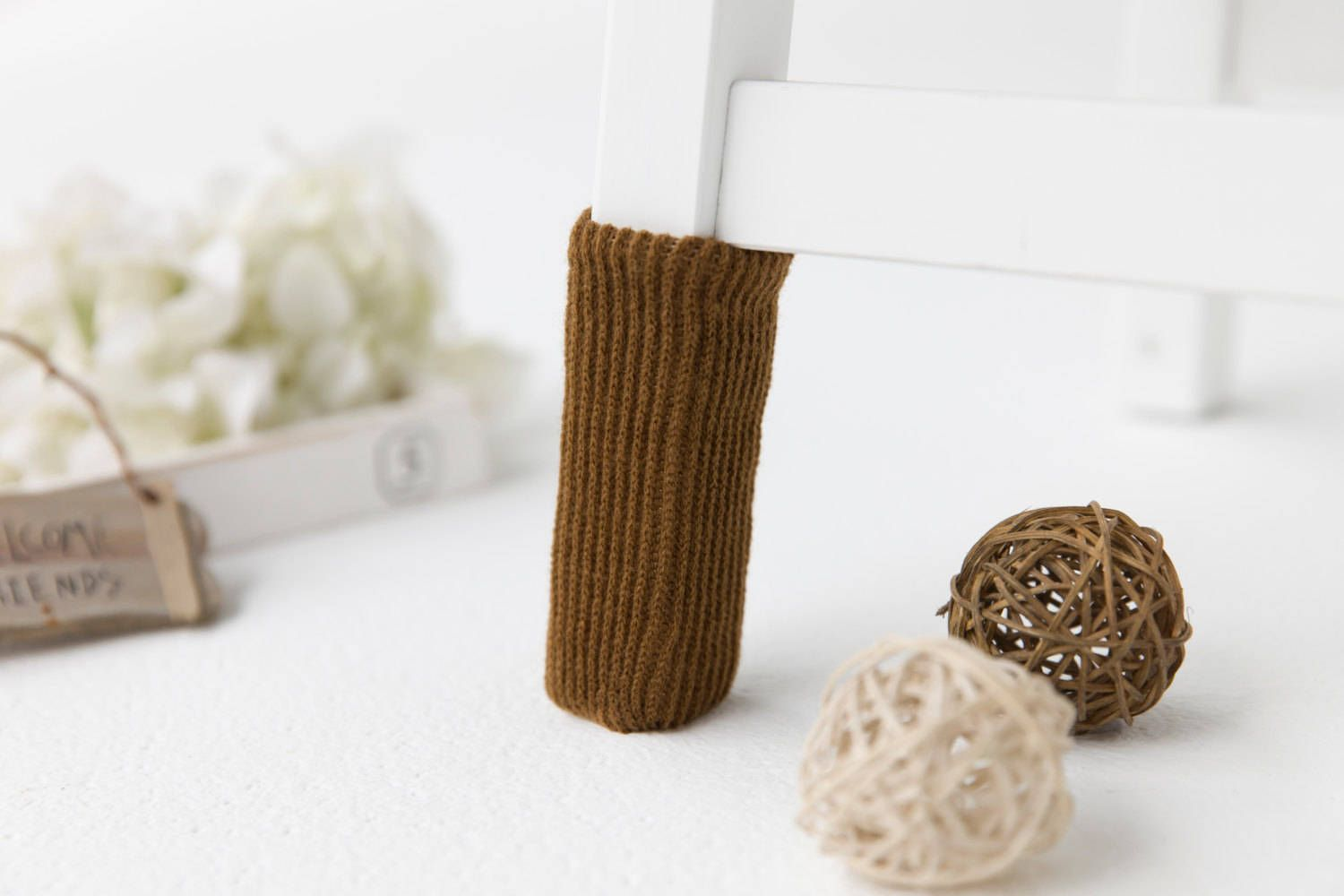 Pure caramel furniture socks by SeedCare on Etsy Chair