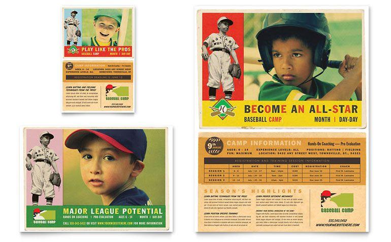 22 Beautiful Sport Flyers PSD Templates library Pinterest - baseball flyer