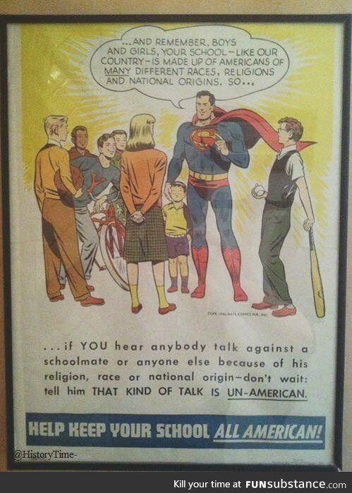 Superman, circa 1950