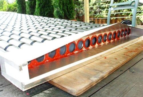 Chauffage écologique  un panneau solaire en canettes d\u0027aluminium - Panneau Solaire Chauffage Maison