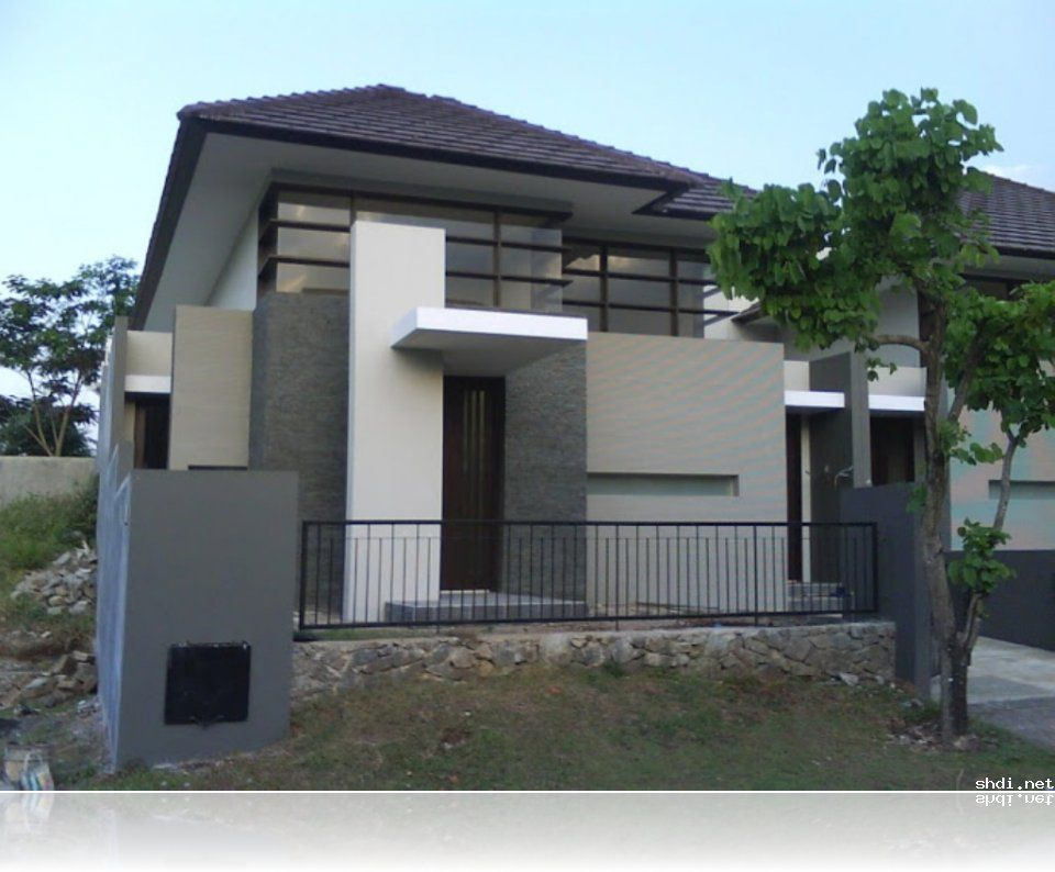 Simple Modern House Exterior Design Inspirations With Grey White