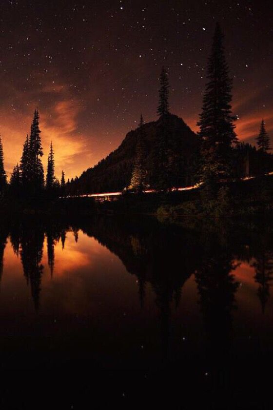 Midnight sunset