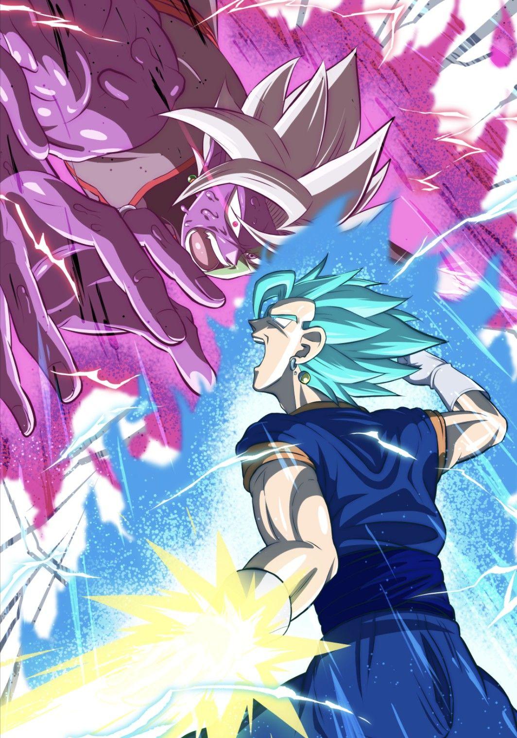 Vegito Blue Vs Merged Zamasu Dragon Ball Z Dragon Ball Image Dragon Ball Super