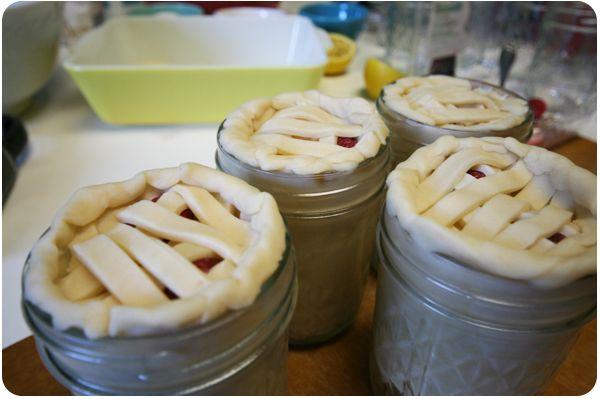 Yummy pie in a jar