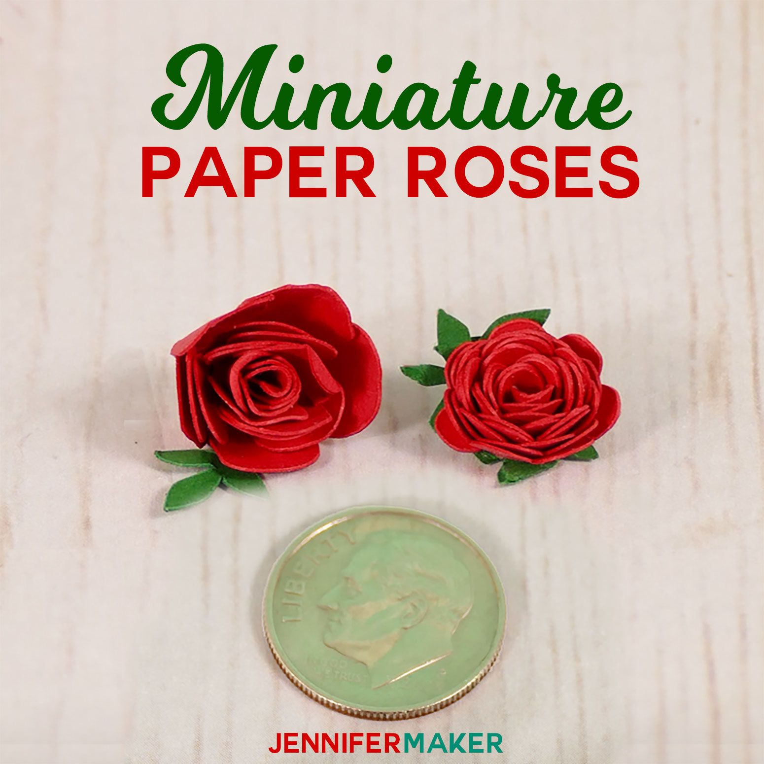 Make Miniature Paper Roses for Cute Crafts Paper roses