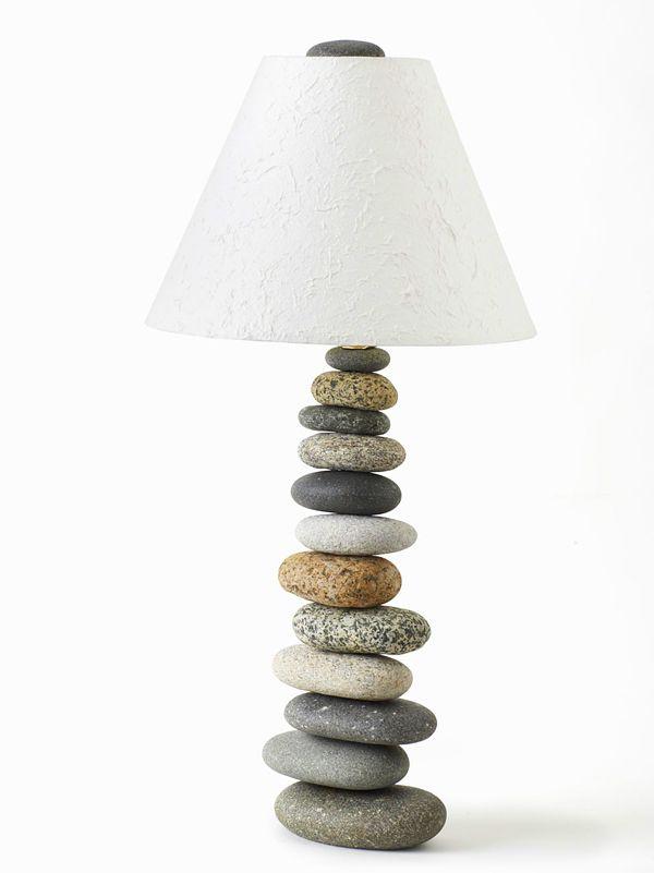 Stone Lamp Stone Lamp Unusual Lamps Table Lamp Design