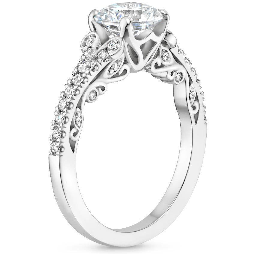 18k White Gold Adelina Diamond Ring 13 Ct Tw For Whenever It
