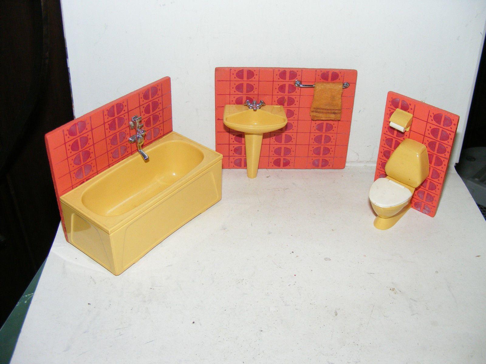 altes badezimmer-70er jahre-lundby-lisa-puppenhaus-puppenstube-1, Badezimmer ideen