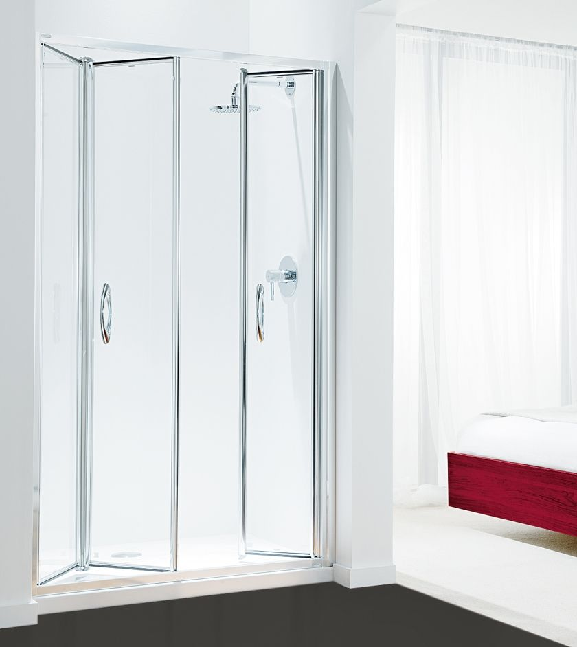 Tri Fold Glass Shower Doors Taking A Shower Is A Relaxing Thing