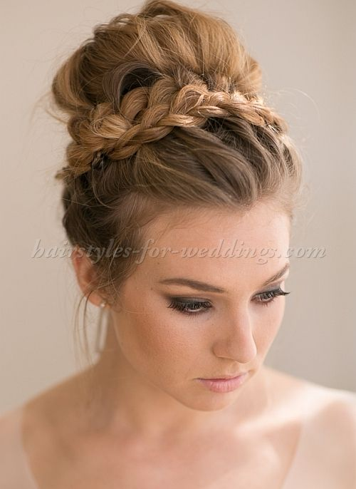 High Bun Wedding Hairstyles Tup Bun Hairstyles For Brides Top Bun