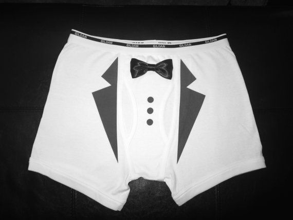Men S Tuxedo Underwear Wedding Gift Groom By Glittersllc
