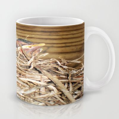 We're in this Together Mug by Nancy Smith - $15.00 #babybirds #robins #nature #spring #nest