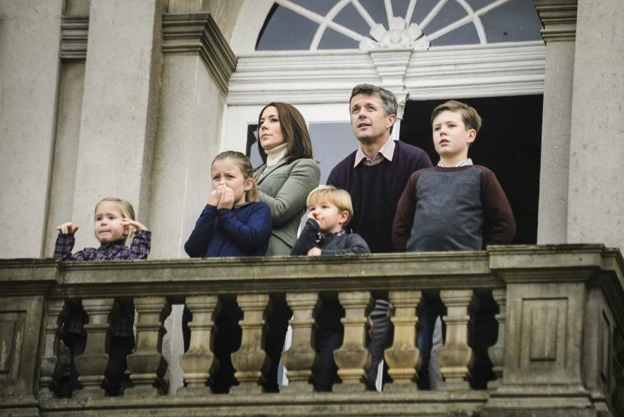 MyRoyals: The Crown Prince Family of Denmark attended the annual Hubertus Hunt, November 1, 2015-l-r Princess Josephine, Princess Isabella, Crown Princess Mary, Prince Vincent, Crown Prince Frederik, Prince Christian