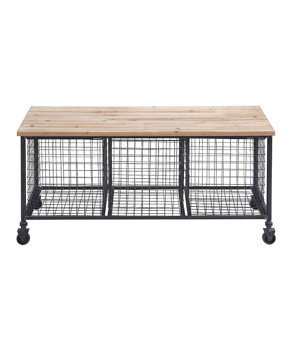 Wire Basket Rolling Storage Bench Diy Inspiration
