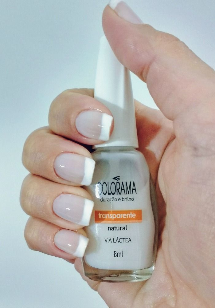Esmaltes Via Lactea e Pétala Branca, ambos da Colorama | My nails ...