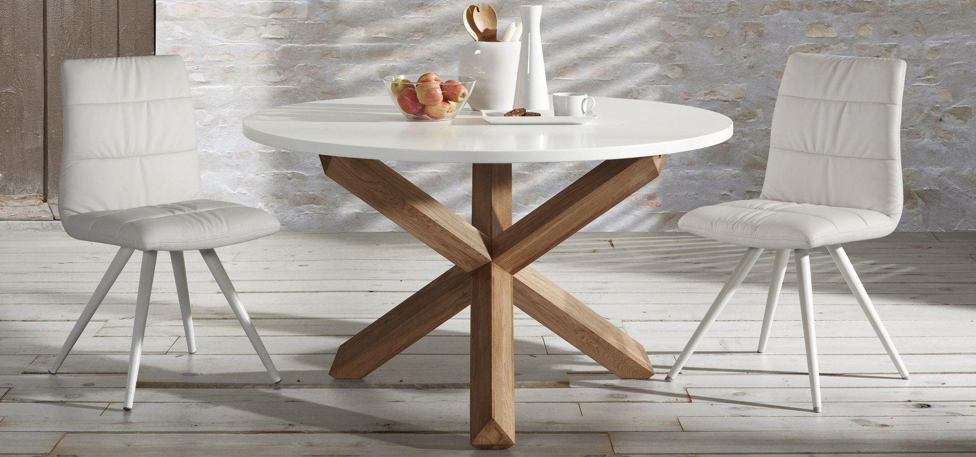 Mesa de comedor moderna redonda nori mesas comedor for Mesa comedor moderna