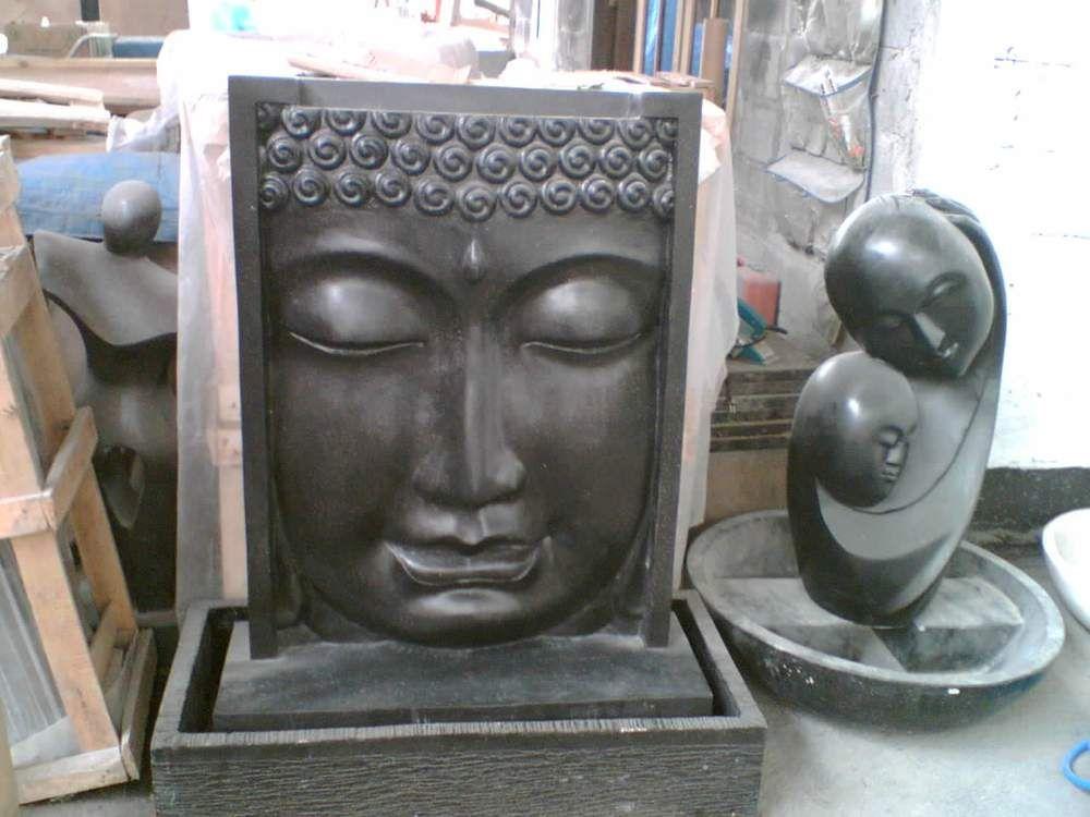 Brunnen Stein Budha Relief Wasserspiel Garten Deko - brunnen garten stein