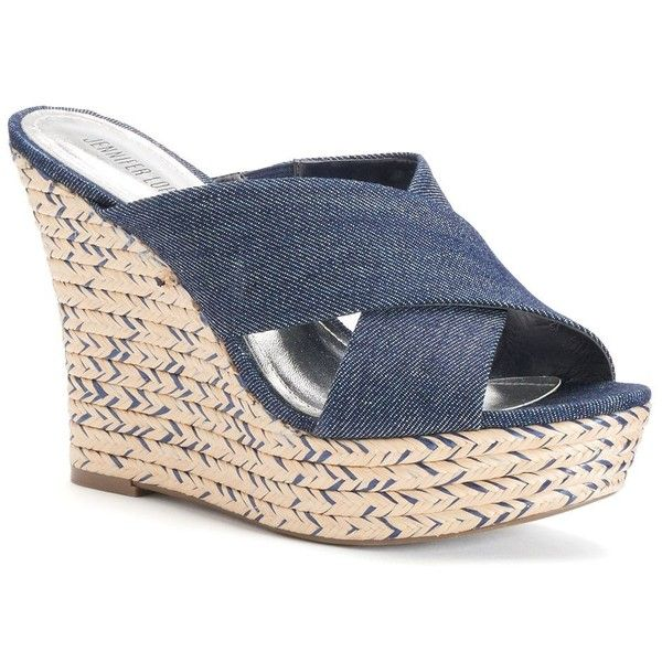 12f2de9766b Jennifer Lopez Women's Espadrille Wedge Sandals ($35) ❤ liked on ...