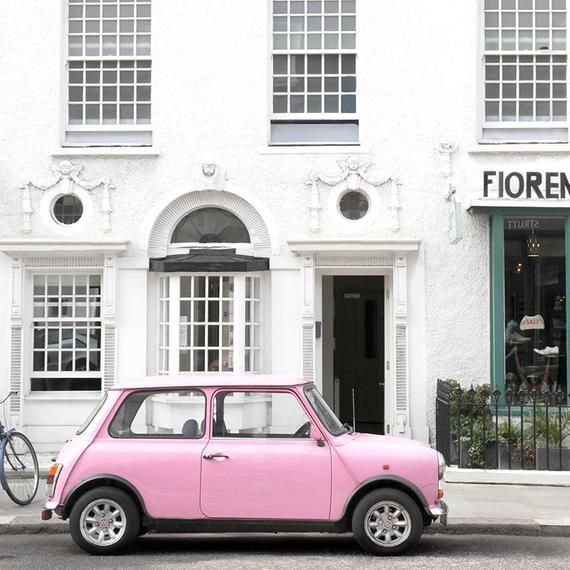 London Portobello Road Pink Car Travel Photography Home | Etsy