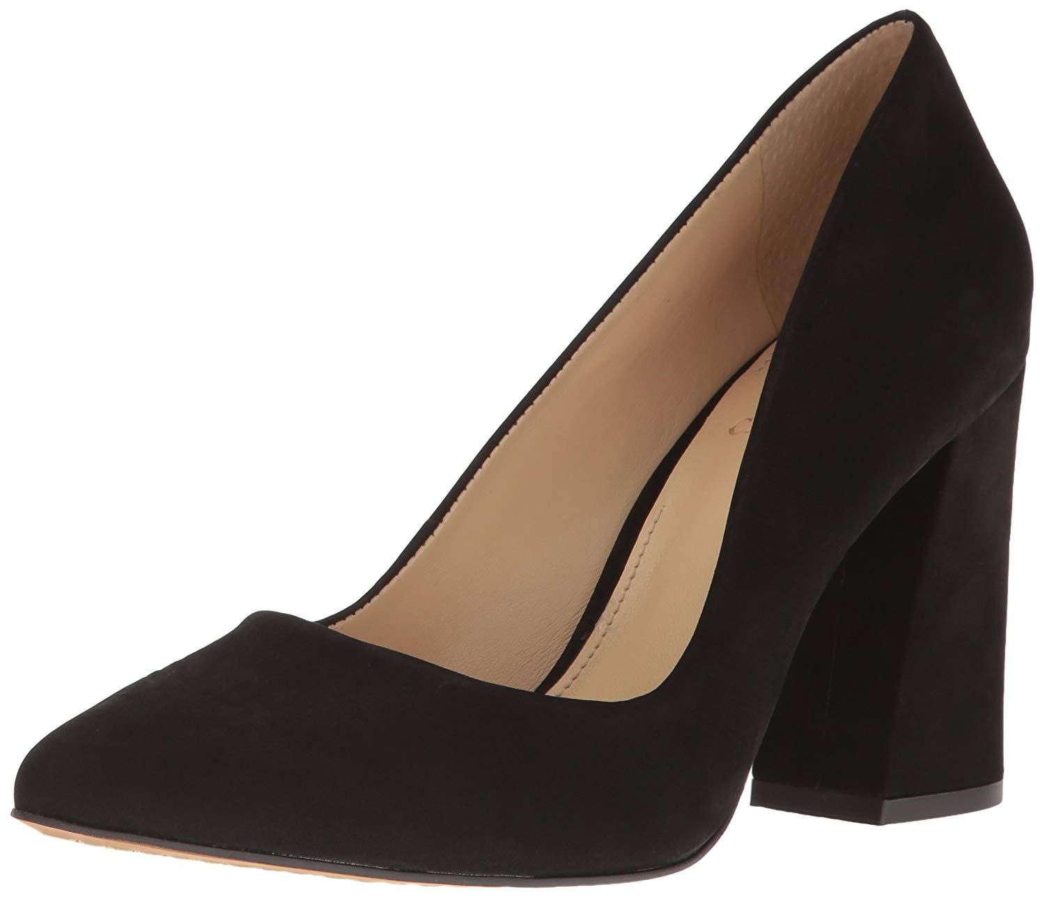295b6fb51798 Vince Camuto Women s Talise Dress Pump. Pointed toe pump with chunky flared  heel Vince Camuto is a true footwear innovator