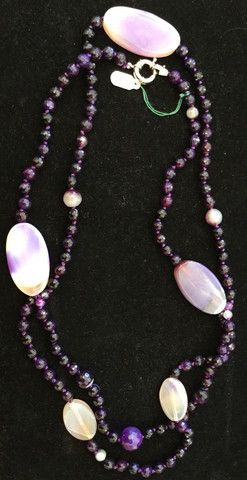 Amethyst and Lavender Double Strand Crystal Necklace