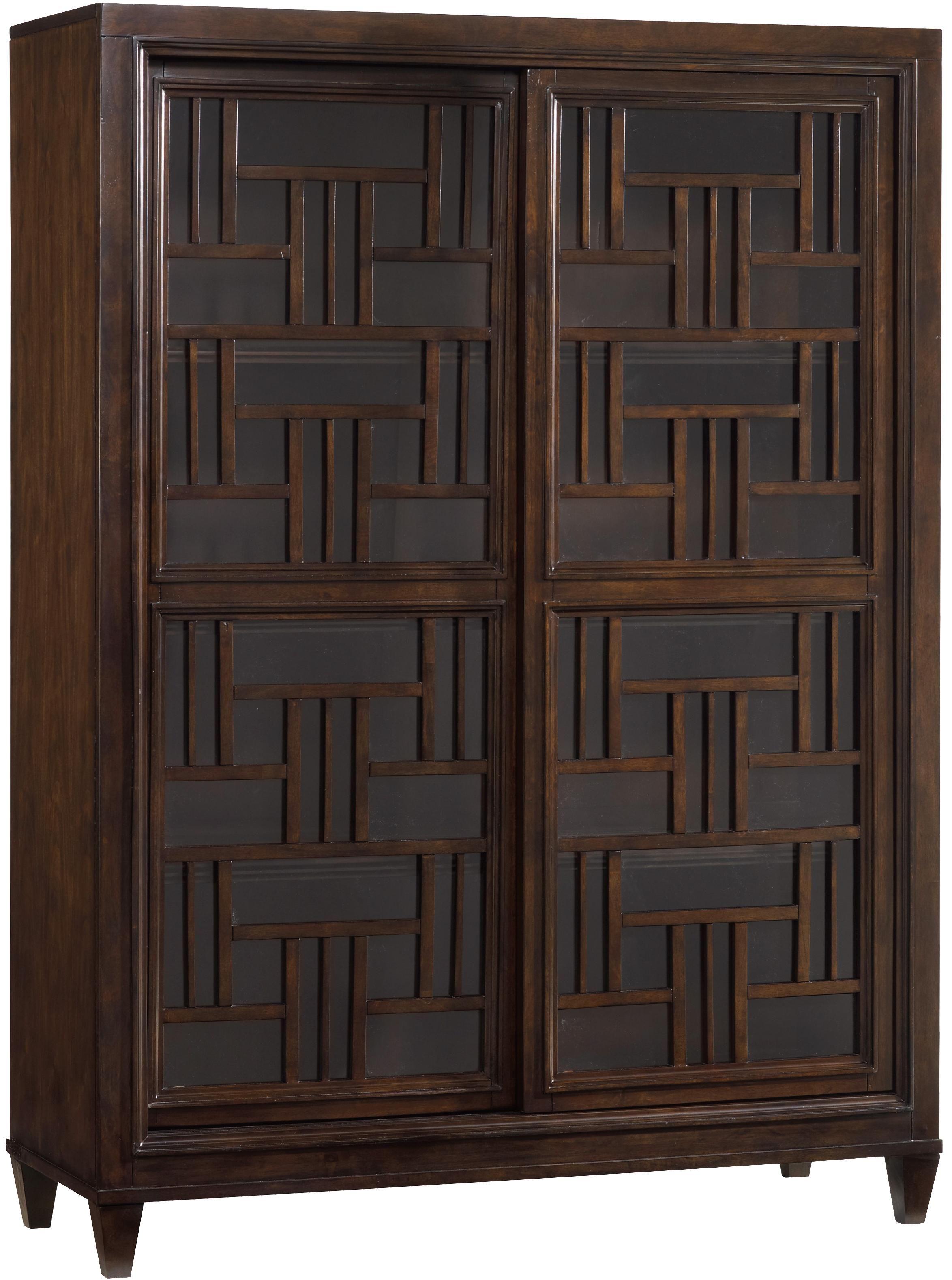 1457 Main Ludlow Bunching Bookcase With Two Sliding Glass Doors U0026  Decorative Fretwork   Furniture Barn