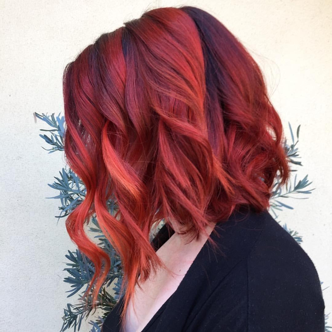 Art color hair -  Hairbybriananicole Red With Arctic Fox Hair Color Red Hair Vivid Hair