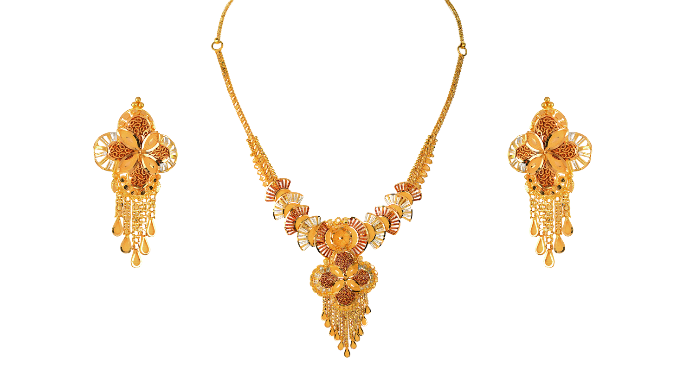 GSN12616 | ORRA Gold bridal set. | Pinterest | Bridal sets, Gold ...