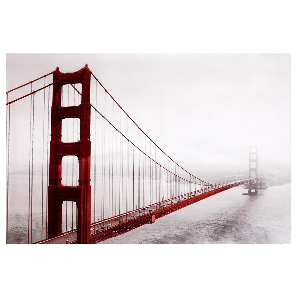 Canvas Golden Gate Bridge Canvas Framed Art Wall Decor Golden Gate Bridge Canvas Golden Gate Bridge Wall Art Architectural Wall Art