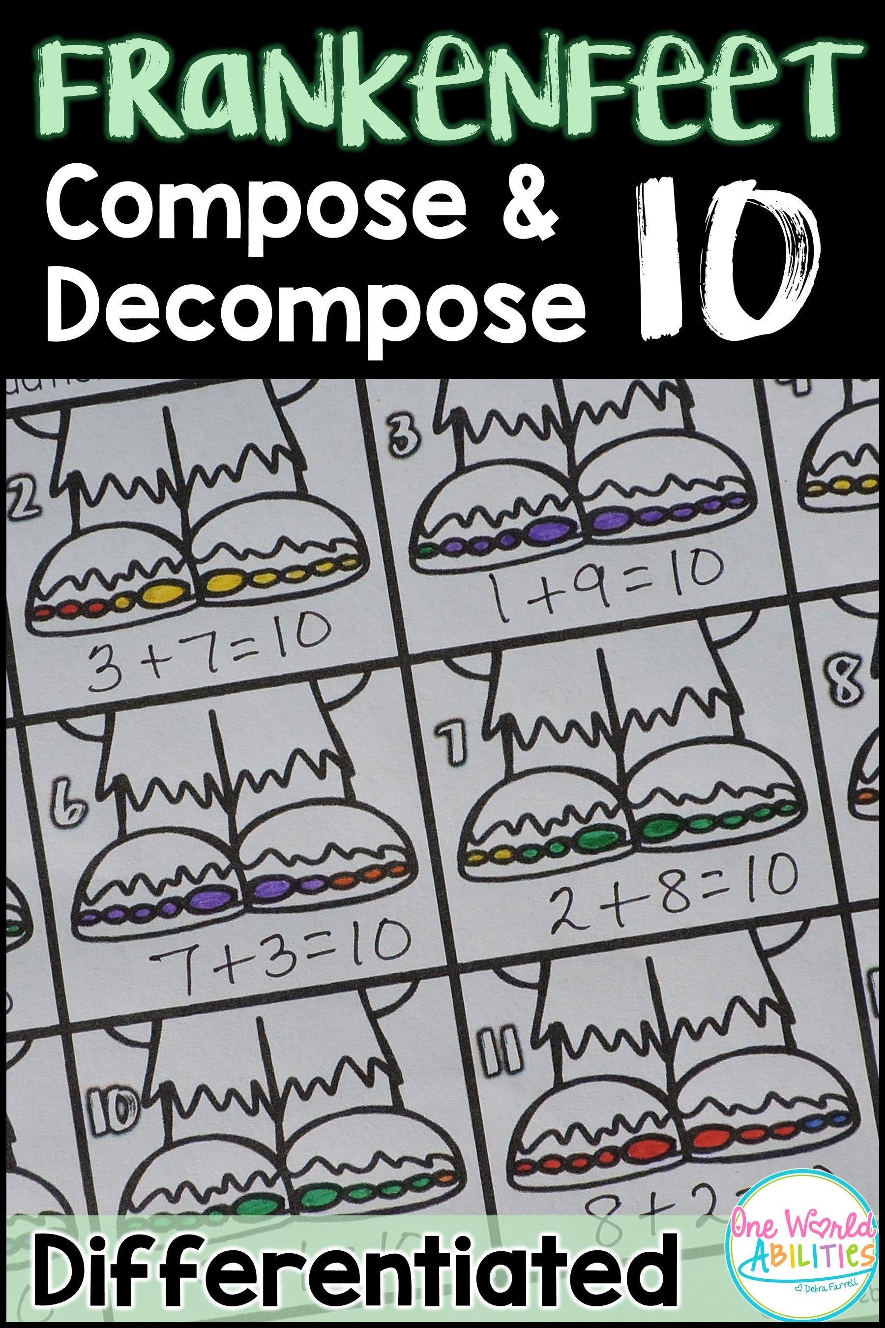 Frankenstein Math Compose Amp Decompose 10 Differentiated
