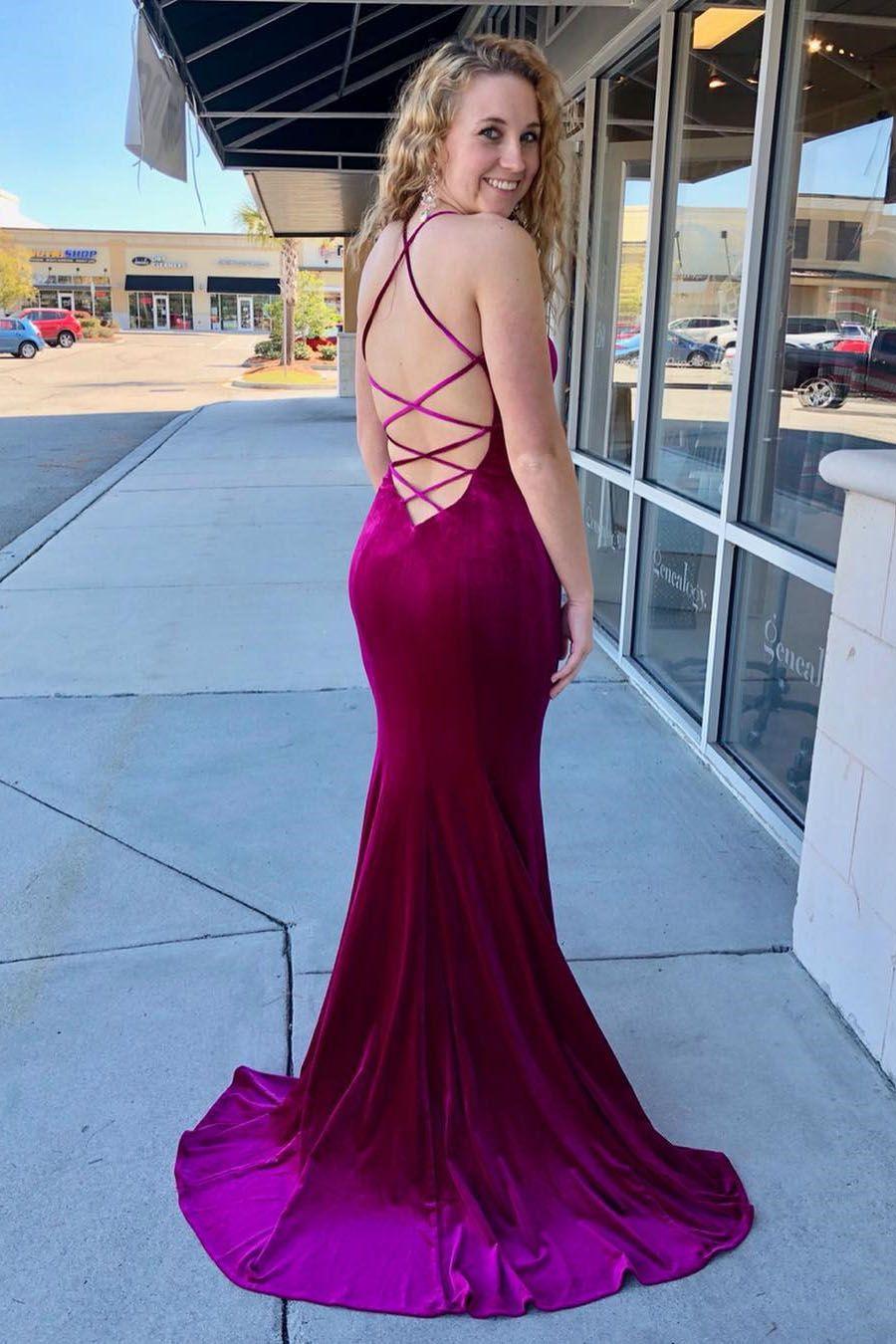 Elegant Fuchsia Mermaid Long Party Dress   Beautiful Dresses ...
