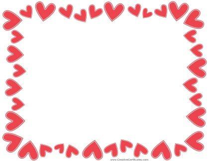 Hearts Border  Certificados    Border Templates