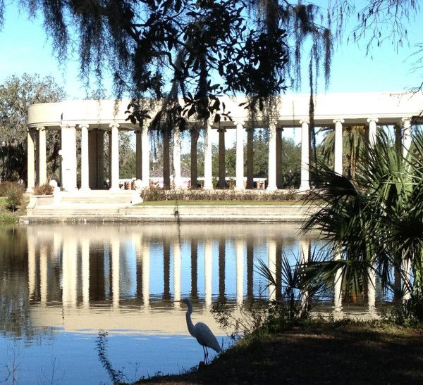 A View Of The Peristyle From Gold Fish Island In New Orleans City