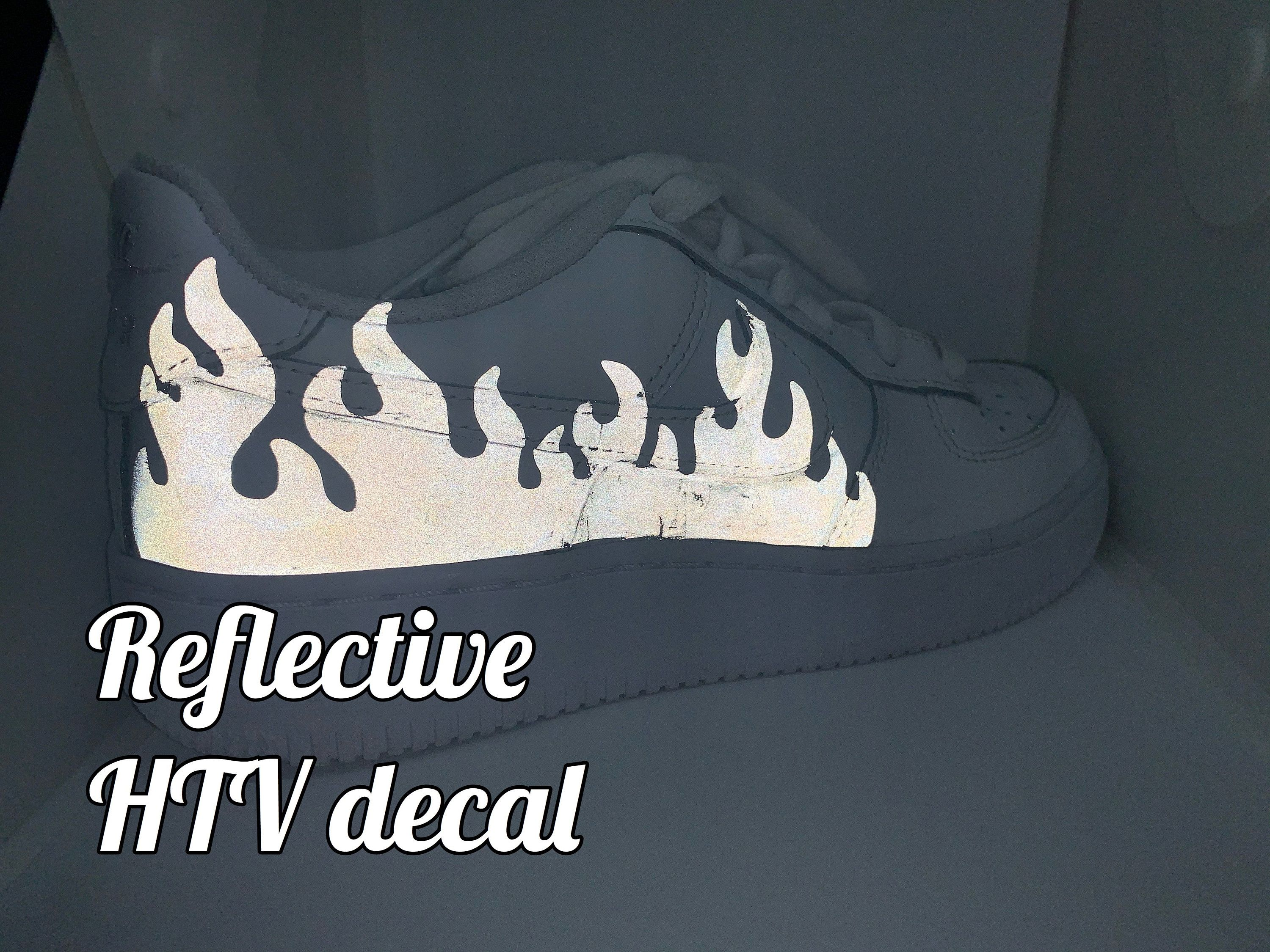 Flame heat transfer vinyl 3M reflective decal for Air