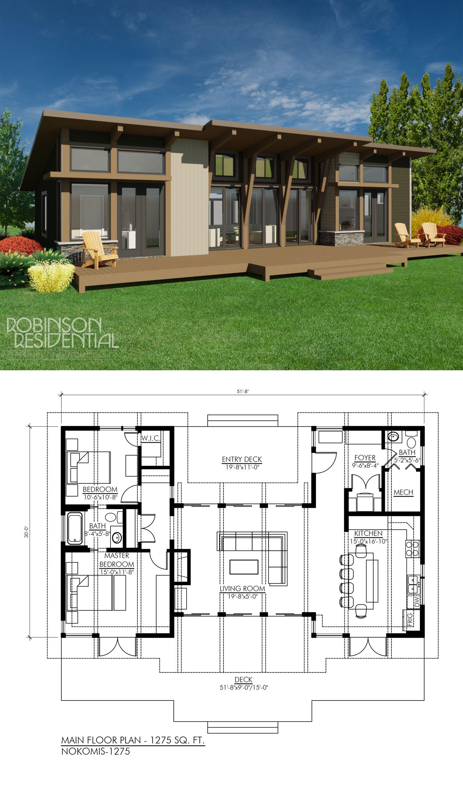 Contemporary Nokomis 1303 Robinson Plans Vacation House Plans Modern Style House Plans Contemporary House Plans