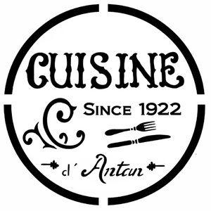 Pochoir adh sif 20 x 20 cm pub vintage cuisine vintage for Pochoir cuisine