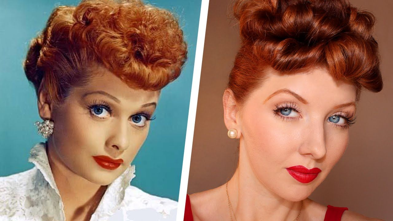 Transforming Into Lucille Ball / Makeup & Hair Tutorial