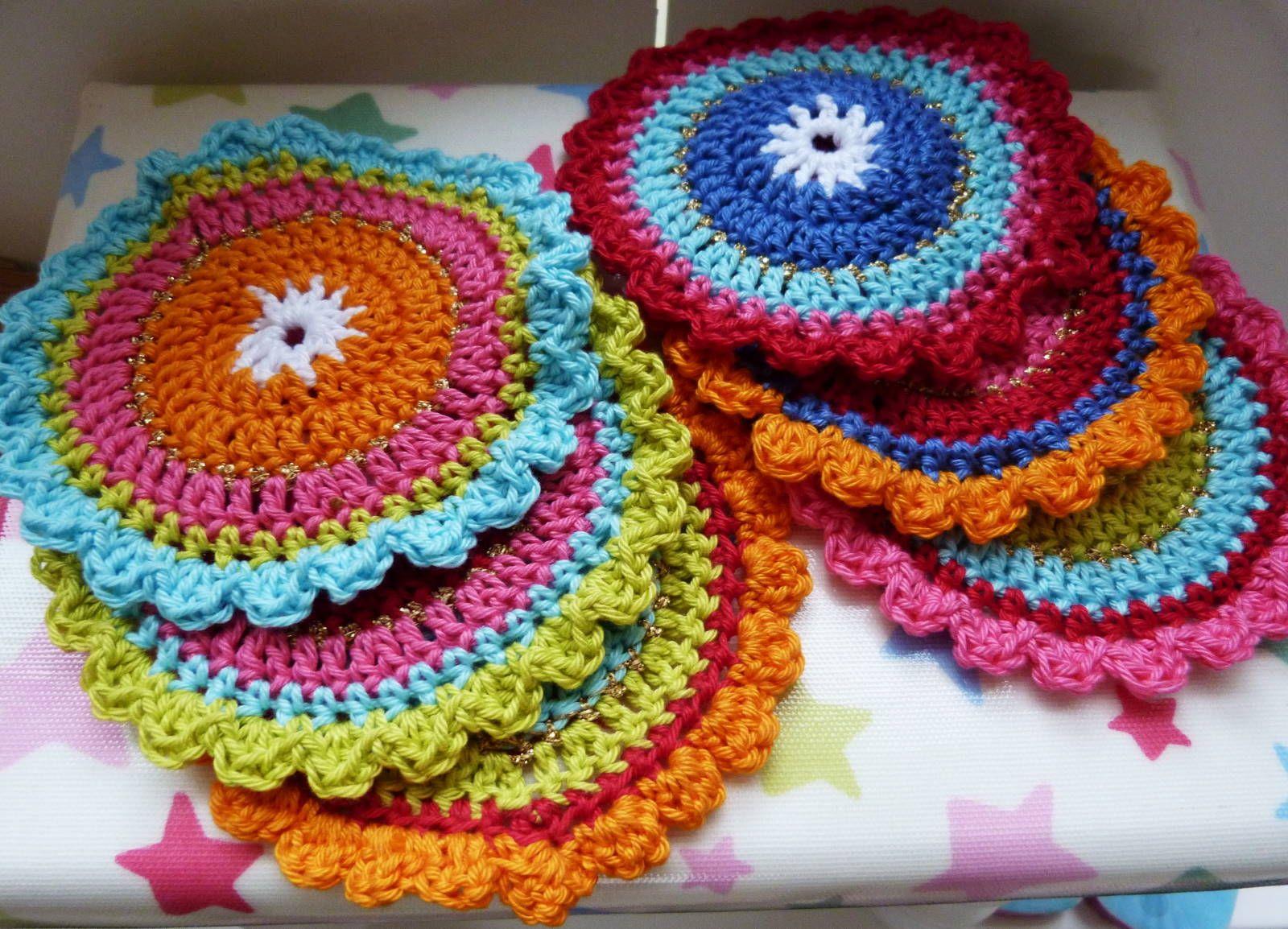 Ilonas Blog Oilily Onderzetters Haken Coasters Crochet Color