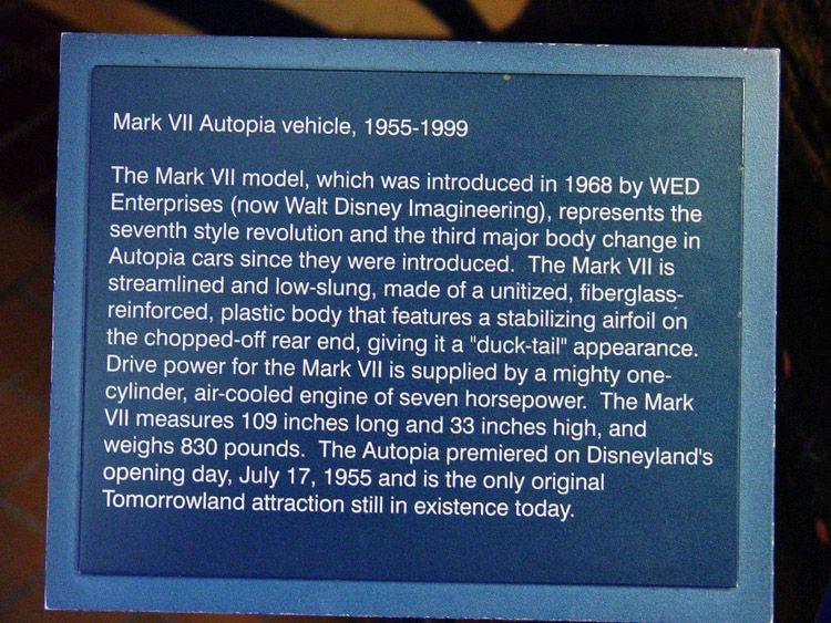 Mark VII 1968 Autopia Vehicle, Disneyland CA, by John Heck