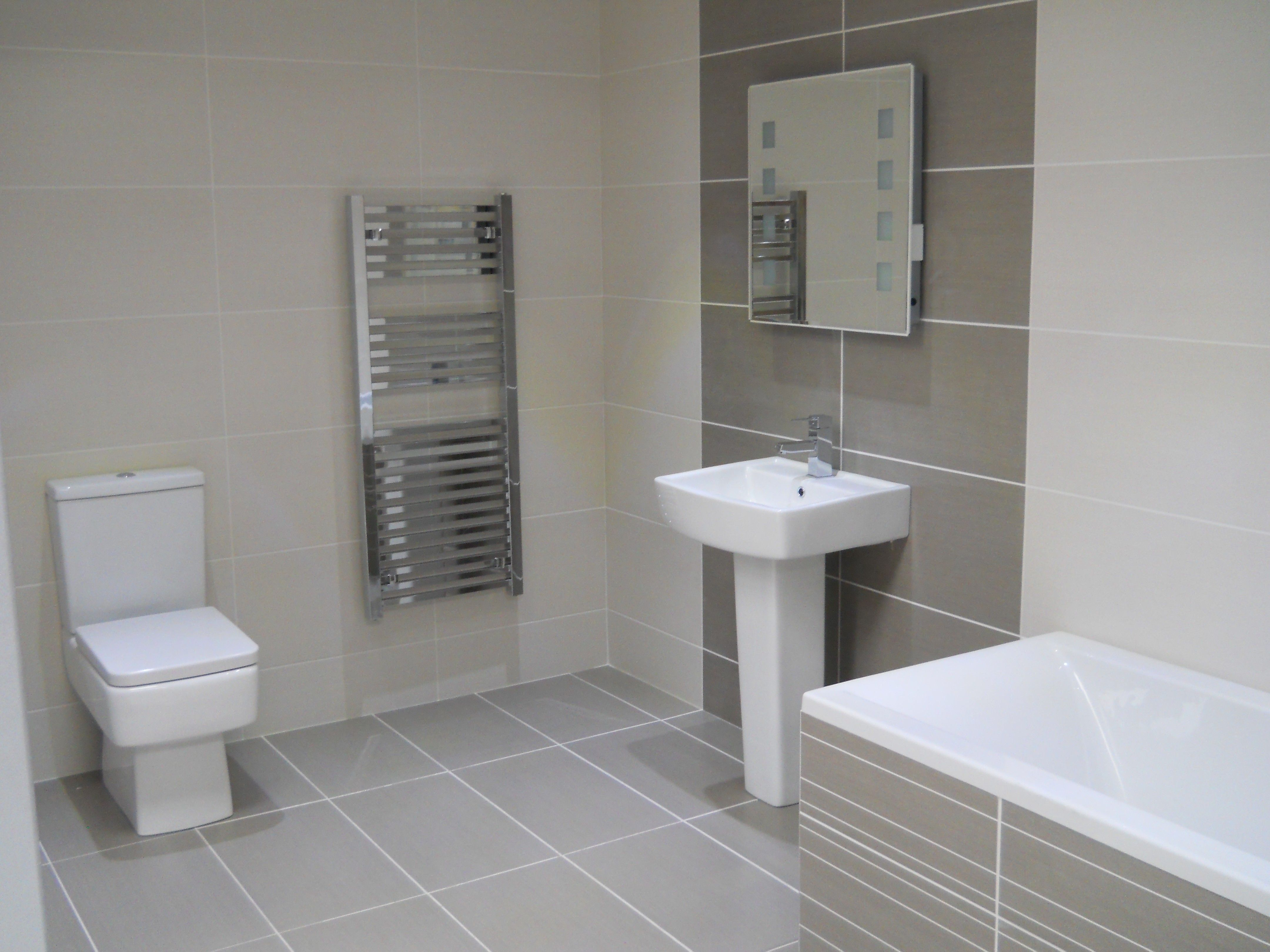 large white tile in bathroom | White Tile Bathroom And Signs Best ...