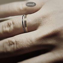 3 obrączki SLIM srebro i mosiądz, pierścionki i obrączki