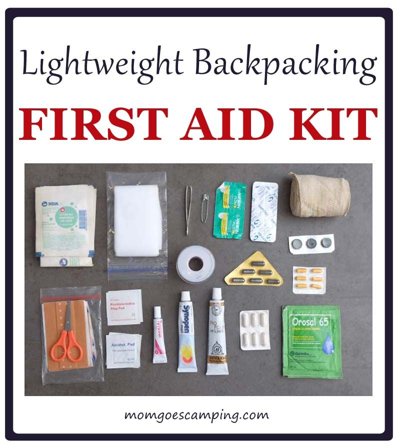 Lightweight Backpacking First Aid Kit Checklist #firstaid