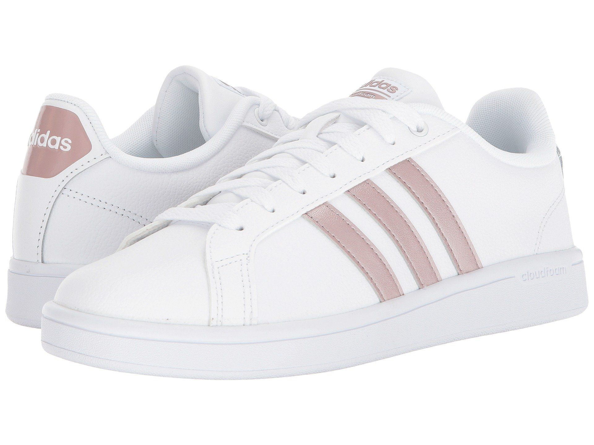 Cloudfoam Advantage Stripe, White/white/grey 3 | Adidas ...