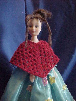 Fashion Doll Dressy Poncho - A free Crochet pattern from Julie A ...