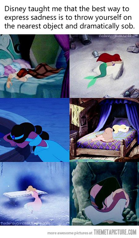 What Disney taught me…  THAT just answered a big question about where my girls learned the drama!!!  Worth the whole 2+ hours of Pinterest time tonight!