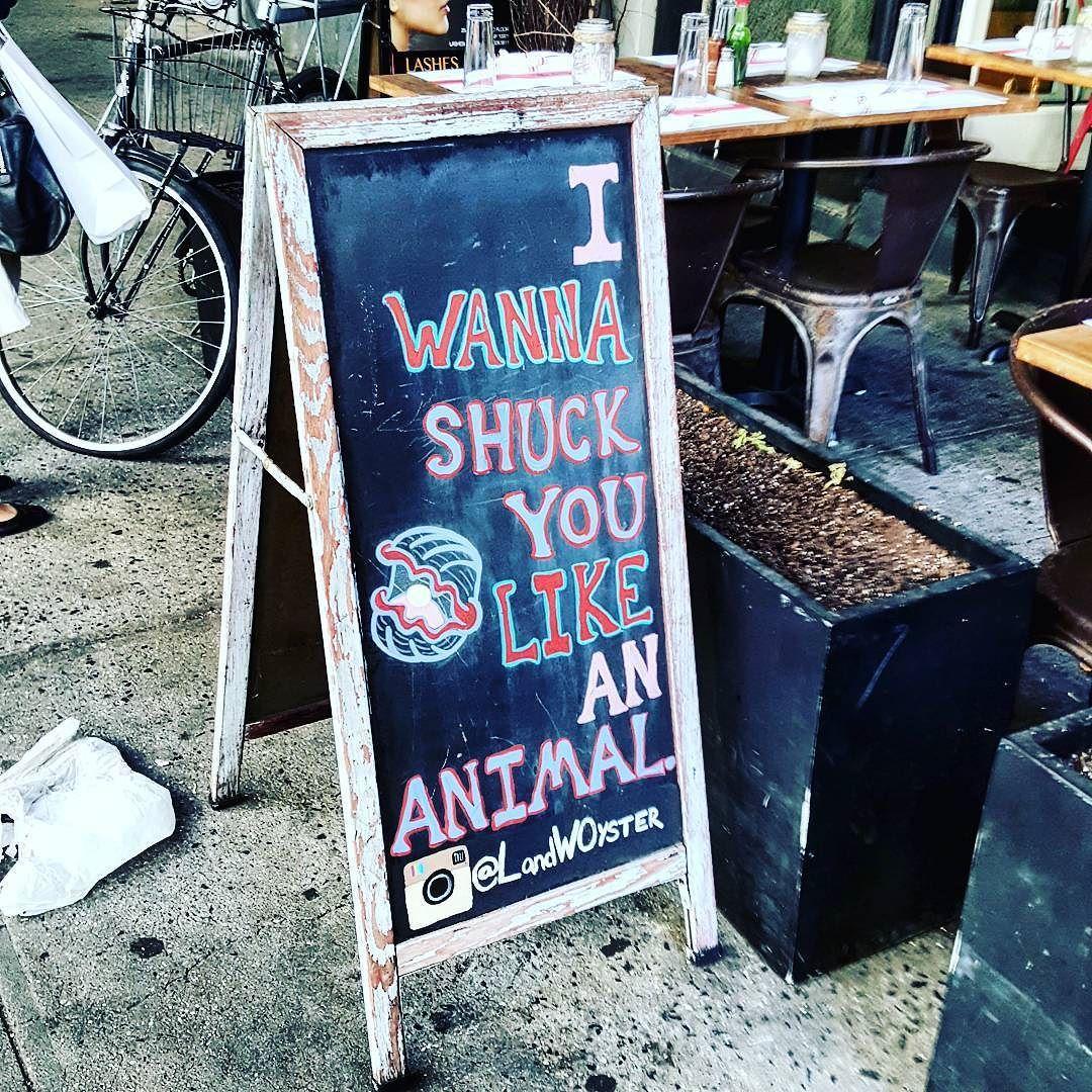 Nine inch nails Weird Al Oyster Bar collab? #oysters #food #signage ...
